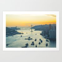 hong kong Art Prints featuring Hong Kong by Rothko