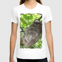 sloths T-shirts featuring Sloths in Nature by Amber Galore Design