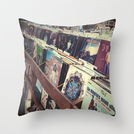 The Record Store (An Instagram Series) Throw Pillow