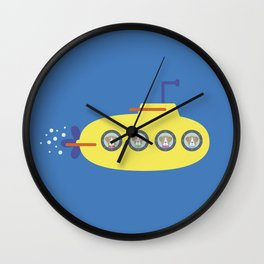 The Beagles - Yellow Submarine Wall Clock