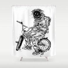 Void in Space (Blk) Shower Curtain