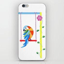 Birds on swings iPhone Skin