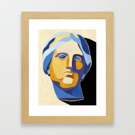 Portrait of Aphrodite, goddes of love and beauty, popart style Framed Art Print
