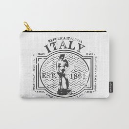 Italy Stamp Carry-All Pouch