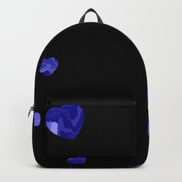 Chaotic Hearts Dark Blue Dapple Backpack