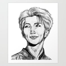 BTS RM Art Print