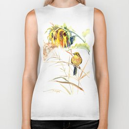 Yellow Bird and Sunflowers, Yellowhammer Biker Tank