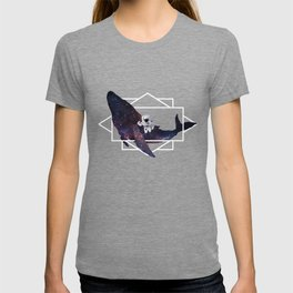 universe in whale T-shirt