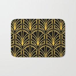 3-D Art Deco Argentinian Glamour Gold Pattern Bath Mat