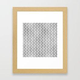 Grey & White Skulls Framed Art Print