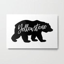 Yellowstone National Park Bear Design Metal Print