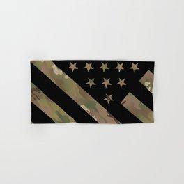 U.S. Flag: Military Camouflage Hand & Bath Towel