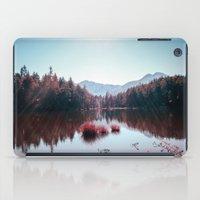 buddhism iPad Cases featuring Winter Lake by Schwebewesen • Romina Lutz