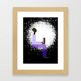 Reading by Window Light Framed Art Print