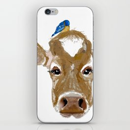 Bluebird Cow iPhone Skin