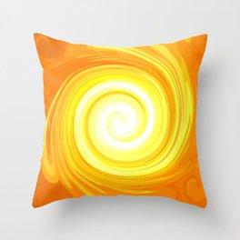 Sun Energy-Spiral No. 01 Throw Pillow
