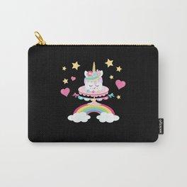 Unicorn Pony Cake Birthday Star Hearts Carry-All Pouch