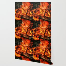 Fire and Lace Wallpaper