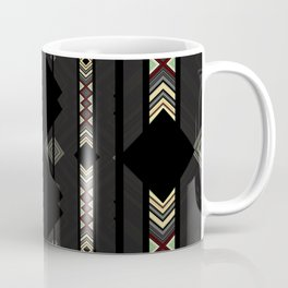 Southwestern Black Diamond Stripe Patterns Coffee Mug
