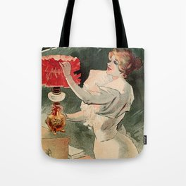 Electricine, French luxury lighting vintage ad Tote Bag