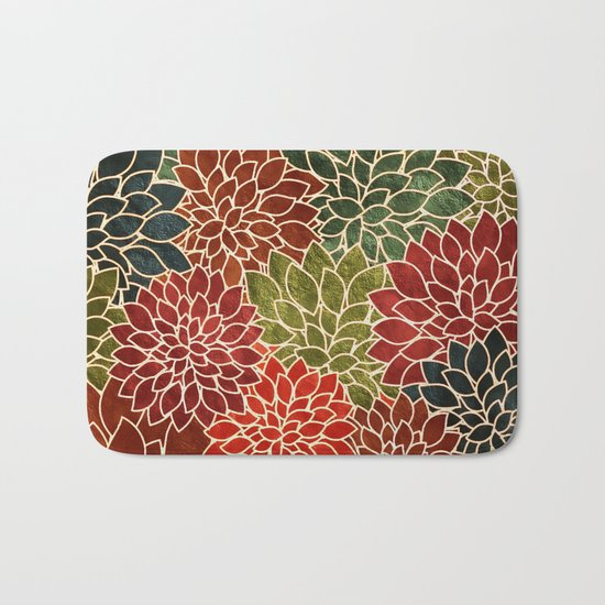 Floral Abstract 7 Bath Mat