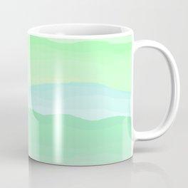 Mint Aqua Rolling Hills Coffee Mug