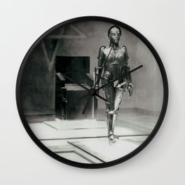 Metropolis poster print vintage photograph science fiction sci-fi cult classic film black and white movie still photograph Wall Clock