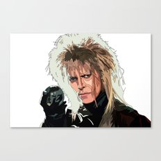 D. Bowie, inside the labyrinth Canvas Print