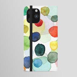 Watercolor drops multicolor iPhone Wallet Case