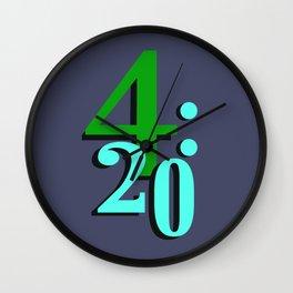 420 Cannabis Stoner Time Wall Clock