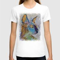 sphynx T-shirts featuring Sphynx Cat by Michael Creese