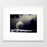 surfer Framed Art Prints featuring Surfer by Monika Strigel