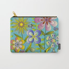 Petty Flowers Pattern 3 Carry-All Pouch