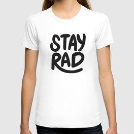 Stay Rad B&W T-shirt