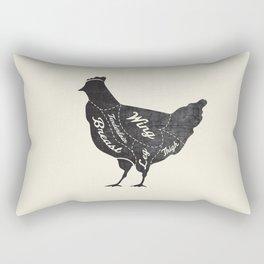 Chicken Butcher Diagram Rectangular Pillow