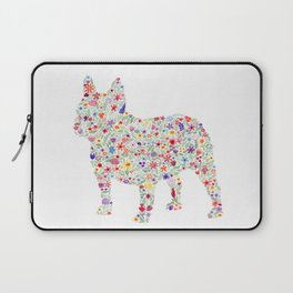French Bulldog Floral Watercolor Laptop Sleeve