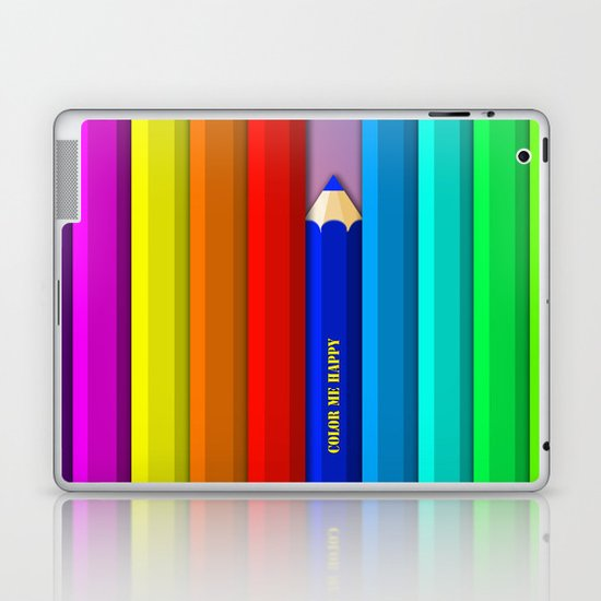 Color Me Happy :)  Laptop & iPad Skin