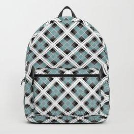 Tartan 1 blue , gray blue Backpack