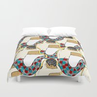 hug Duvet Covers featuring hug by Anton Rosèn