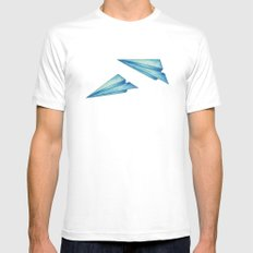 High Flyer MEDIUM White Mens Fitted Tee