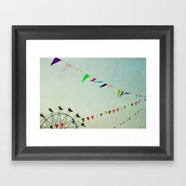 summer festival Framed Art Print