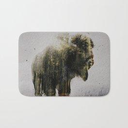 North American Bison Bath Mat