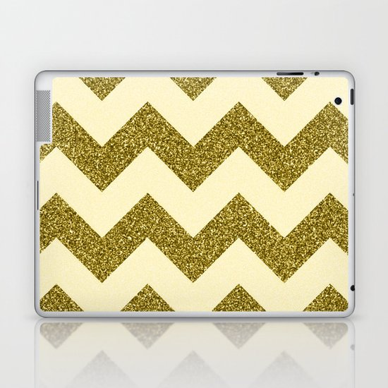 Chevron Gold Laptop & iPad Skin