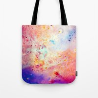 cosmos Tote Bags featuring Cosmos by Kimsey Price