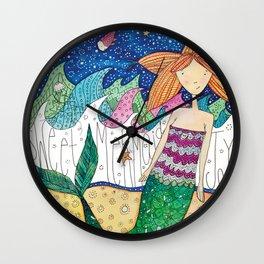 Mermaid Joy Wall Clock
