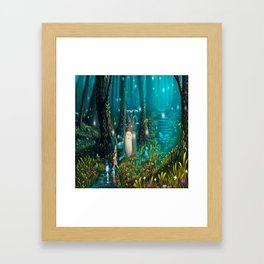 Totoro's In Jugle Framed Art Print