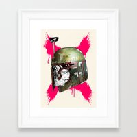 boba fett Framed Art Prints featuring Boba Fett by efan