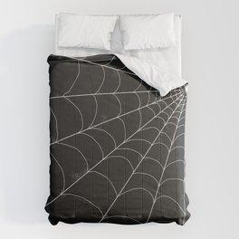 Spiderweb on Black Comforters