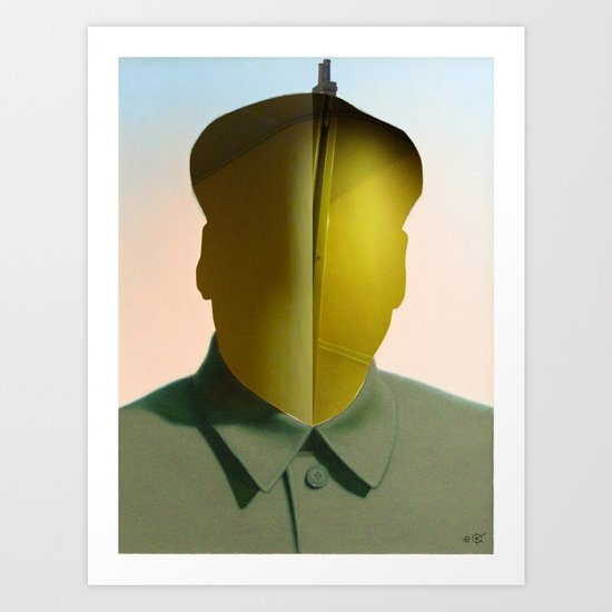 Mao as wound 3 Collage Art Print