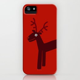 Reindeer-Red iPhone Case